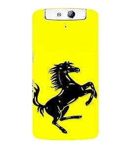 EPICCASE Ferrari horse Mobile Back Case Cover For OPPO N1 (Designer Case)