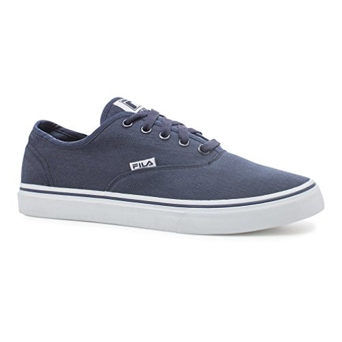 Fila Men's Classic Canvas Fashion Sneakers, Navy Canvas, 10.5 M