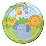 Forest Friends Jungle Party Paper Lunch Plates x 8