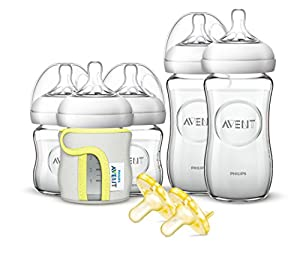 Philips Avent Natural Glass Baby Bottle Gift Set by Philips Avent