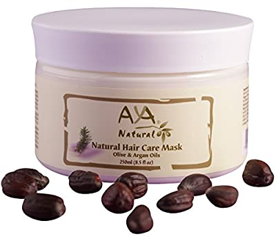 Natural Hair Mask Deep Conditioner - 100% Natural Vegan Paraben & Sulfate Free Long Lasting Conditioning Repair Mask for Dry or Damaged Hair and Scalp - Moroccan Argan, Olive, Coconut & Jojoba Oils Blend