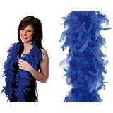 HAAC Federboa Feder Boa Farbe blau 180 cm für Fasching Karneval Party