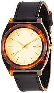 [ニクソン]NIXON TIME TELLER ACETATE LEATHER: GOLD/MOLASSES NA5131424-00 レディース 【正規輸入品】