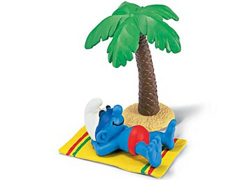 Buy Low Price Schleich Smurf on Holiday: Smurf in a Diorama Mini Figure Series [402614] (B004RWI3EC)