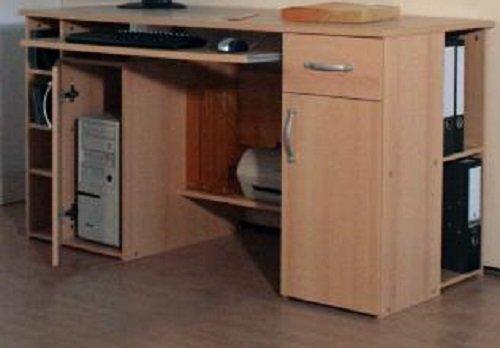 4-4-3-424: made in BRD – PC-Tisch, Computertisch, Schreibtisch buche dek. online kaufen