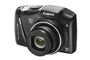 Canon PowerShot SX150 IS Digital Camera - Black (14.1 MP, 12x Optical Zoom) 3.0 inch LCD with Wide Viewing Angle