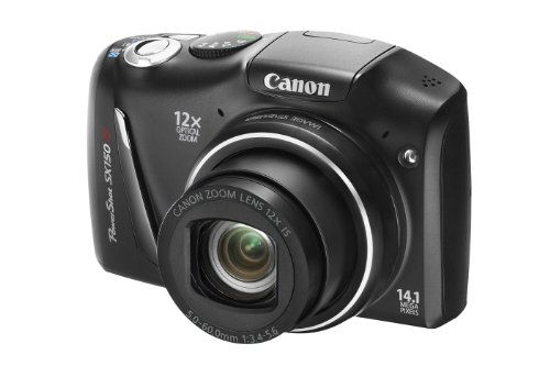 Canon PowerShot SX150 IS Digital Camera - Black 