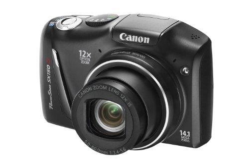 Canon PowerShot SX150 IS Digital Camera - Black