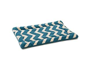 West Paw Design Nature Nap Dog Mat, Blue Spruce Chevron, Small