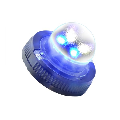 Lamphus Snakeeye Ii-4W Volunteer Firefighter Emergency Vehicle Surface Mount 4W Led Hide-A-Way Strobe Warning Light ( Other Color Available ) - Blue White