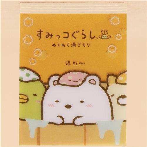 Baño Portatil Pequeno:Taco de notas mini naranja amarillo animal tímido Sumikkogurashi
