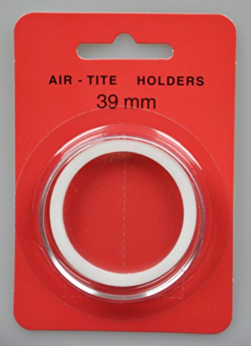 "Air-Tite Coin Capsule ""I"" White Ring Coin Holder for 39mm Coins"
