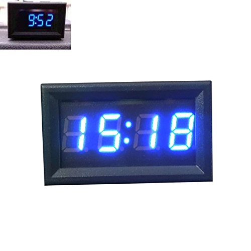 Tonsee Car Motorcycle Accessory 12V/24V Dashboard LED Display Digital Clock(Blue) (Car Led Digital Clock compare prices)
