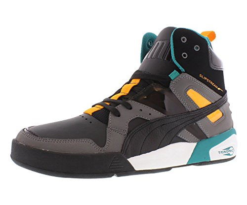PUMA Men's FTR Trinomic Slipsteam LL Lite Fashion Sneaker,Black/Steel/Zinnia/Blue,11 D US