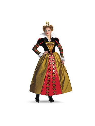 Deluxe Red Queen Costume - Large - Dress Size 12-14