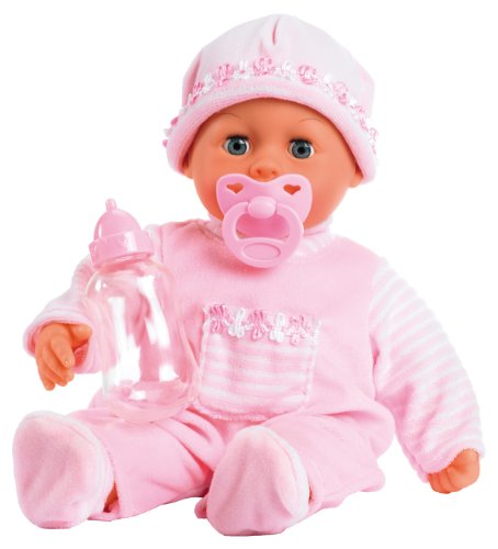 Bayer Design 93800 - Babypuppe First Words mit Schlafaugen, 24 Babylaute, 38 cm, rosa