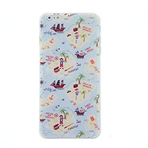 CaseBee - Pirate Treasure Island Print iPhone 6 Plus (5.5) Case - Perfect Gift (Package includes Screen Protector)