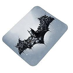 Clapcart Batman Logo Design Printed Rubber Base Mat finish Mouse Pad For PC / Laptop - Multicolor