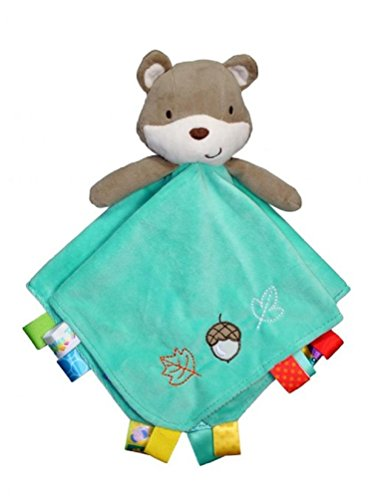 Taggies Rattle Head Fox and Friends Baby Boy Plush Security Blanket Lovie - 1