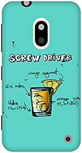 The Racoon Grip Turquoise Screwdriver hard plastic printed back case / cover for Nokia Lumia 620