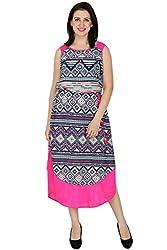 Wintage Women Boat Neck Sleeveless Multicoloured Floral Maxi Dress