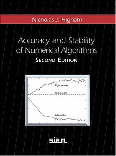 Accuracy and Stability of Numerical Algorithms 2nd Edition Hardback