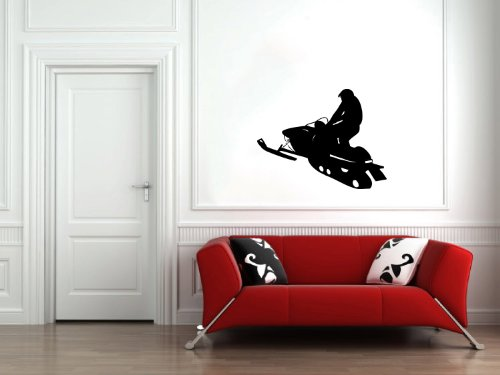 Housewares Wall Vinyl Decal People Sportsman Snowmobiles Ski-doo Racing Home Art Decor Kids Nursery Removable Stylish Sticker Mural Unique Design for Any Room