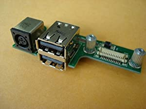 3CLeader® Dell Inspiron 1525 DC Power Jack 2-USB Ports Board 07533-2 48.4W006.021