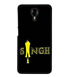 Singh 2D Hard Polycarbonate Designer Back Case Cover for Micromax Canvas Xpress 2 E313
