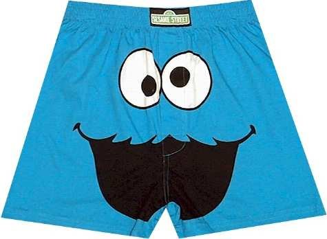 Buy Sesame Street Cookie Monster Cookie Crazy Boxer Shorts for boys – ON SALE!
