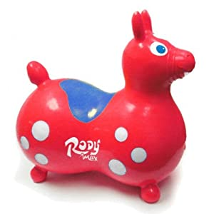 Gymnic / Rody Max Inflatable Hopping Horse, Red