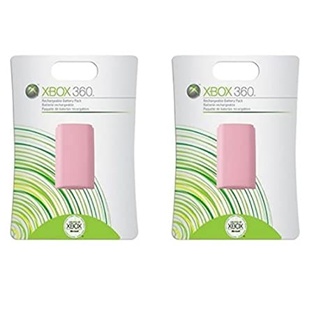 Xbox 360 Rechargeable Controller Battery Pack Pink 2 Pack