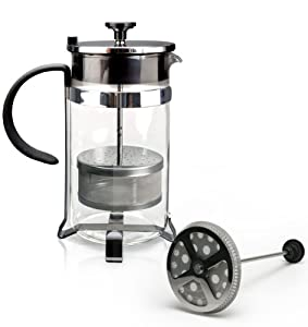 Miam.Miam DUET: French Press + Teapot with Infuser Hybrid, 1000-Milliliter