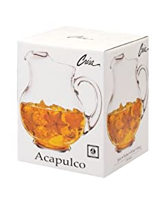 Crisa Acapulco Glass Pitcher, with Gift Box
