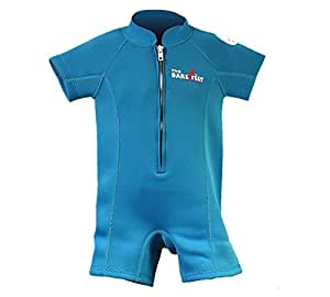Two Bare Feet Classic Baby Wetsuit - Neoprene Swimsuit Ages 0 - 48 months (XS (6-12 months), Aqua)