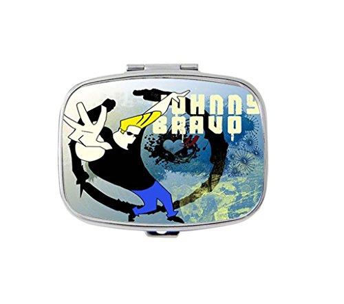 johnny-bravo-custom-unique-silver-square-pill-box-medicine-tablet-organizer-or-coin-purse