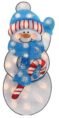 Impact Innovation-Import 67377 Outdoor Christmas Decoration, Lighted, Shimmer Snowman, 35 Mini Lights, 36-I - Quantity 6 Christmas, Outdoor Figures Lighted, Santa/Misc