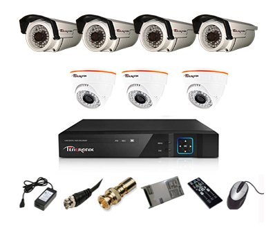 Tentronix-T-8ACH-7-D3BA410-8-Channel-AHD-Dvr,-3(1MP-36IR)-Dome,-4(1MP-36IR)-Bullet-Cameras-(With-Accessories)