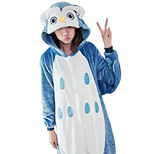 Wjia Winter Adult Cosplay Flannel Animal Pajamas