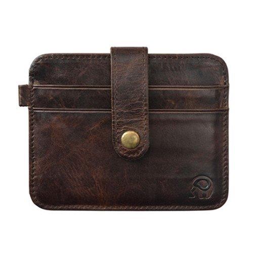 I9Q Uomini e Donne Vintage mini Hasp piccola borsa in pelle di guida titolare della carta Portafoglio
