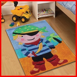 childrens play pirate rugs 70 x 100cm perfect for any
