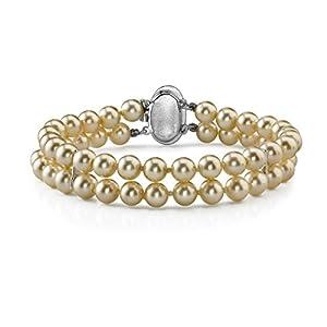 Double Strand 6 mm Round Majorca Pearl Bracelet