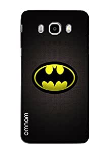 Omnam Printed Batman Logo Cover Yellow For Samsung Galaxy J5 (2016)