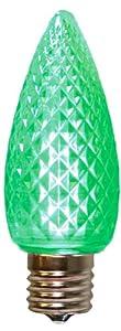 American Lighting 035-C9-LED5-GR Retrofit C9 Premium LED Bulbs, Faceted, Super Bright, Green, 25-Pack