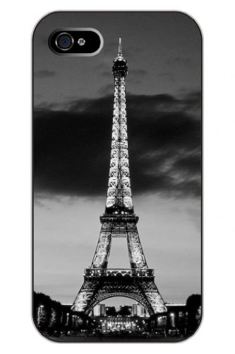 Sprawl New Fashion Design Hard Skin Case Cover Shell For Mobilephone Apple Iphone 4 4S 4G--Silver Eiffel Tower