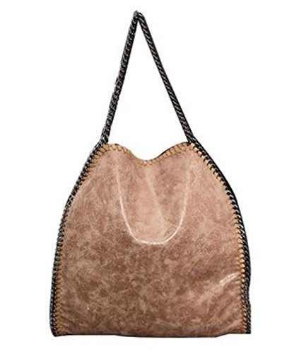 Getthatbag - Sacchetto donna , Marrone (Brown), L