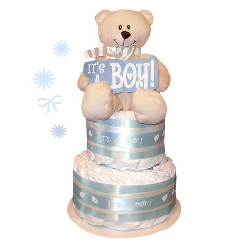 Tumbleweed Babies 1113012 Its A Boy Baby Cake 2 Tier