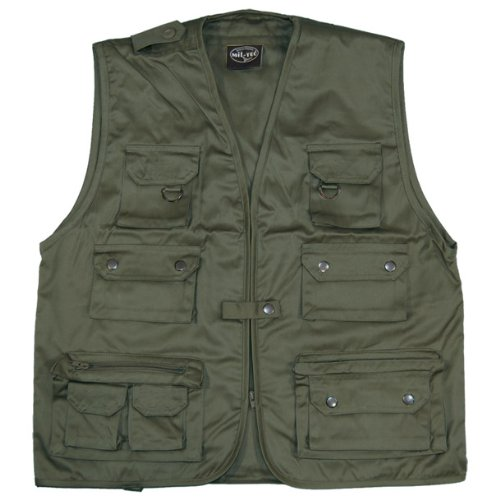 Fishing Vest Multi Pocket Mens Waistcoat Olive