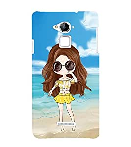 Vizagbeats Animated Girl Beach Background Back Case Cover for Coolpad Note 3