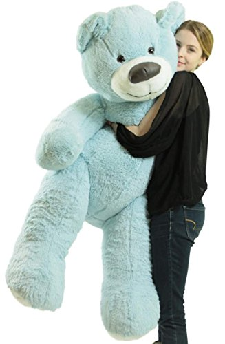 Big-Plush-Giant-Teddy-Bear-55-Inches-Blue-Color-Soft-Smiling-Big-Teddybear-Premium-Quality-Made-in-USA-Ships-in-BIG-Box-That-Weighs-16-Pounds